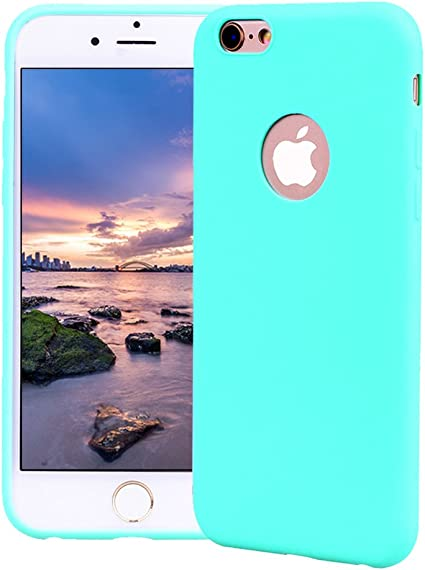 Funda iPhone 6 Plus, Carcasa iPhone 6S Plus Silicona Gel, OUJD Mate Case Ultra Delgado TPU Goma Flexible Cover para iPhone 6 Plus/6S Plus - Azul cielo: Amazon.es: Oficina y papelería