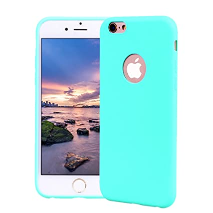 Funda iPhone 6 Plus, Carcasa iPhone 6S Plus Silicona Gel, OUJD Mate Case Ultra Delgado TPU Goma Flexible Cover para iPhone 6 Plus/6S Plus - Azul cielo