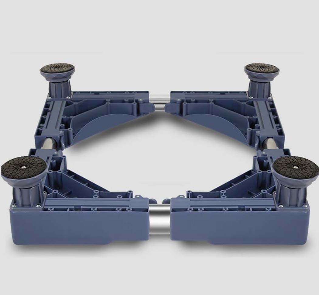DSHBB Washing Machine Base Plate,Multi-functional Movable Base ,Multi-function Trolley, Floor Landing Frame For Washing Machine Pedestal Fridge Base Rack (Color : White)
