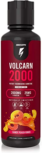 InnoSupps Volcarn 2000 – Liquid L-Carnitine, Boost Energy, Caffeine Free, No Artificial Sweeteners, 32 Servings