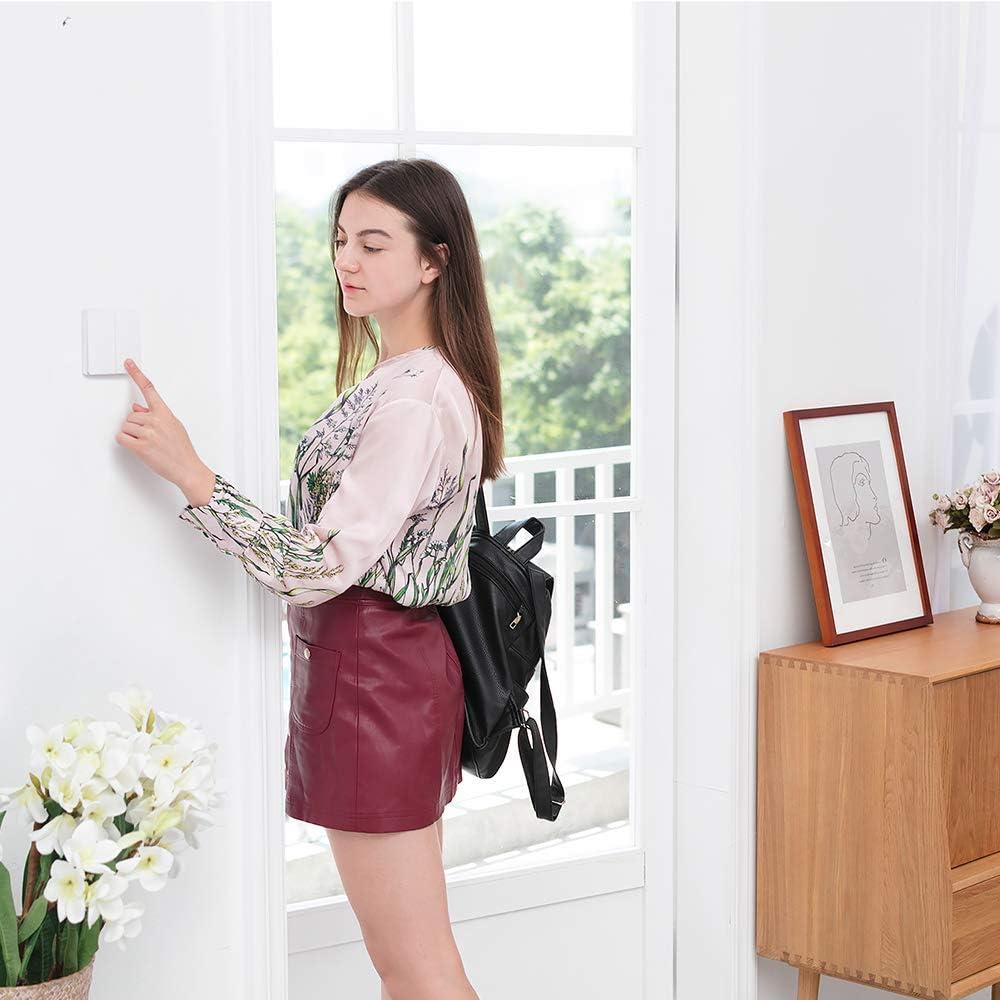 Interruptor de Control de luz WiFi 2,4 GHz Blusea Interruptor de Pared Aqara 2 Timbre de Puerta Inteligente DoubleKey Mando a Distancia inal/ámbrico Home Kit de Mi Home App