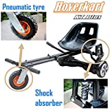 Fast Go Karts Best Deals - Upgraded Fully Adjustable Go-Kart Seat For Hoverboard, With Shock Absorber & Pneumatic Tyre, Off-Road 6.5/8/10