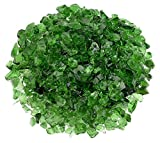 American Fireglass Light Green Recycled Fire Pit Glass - Small (12-18Mm), 20 lb. Bag