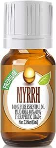 Myrrh Essential Oil - 100% Pure in Jojoba (40%/60% Ratio) Best Therapeutic Grade - 10ml