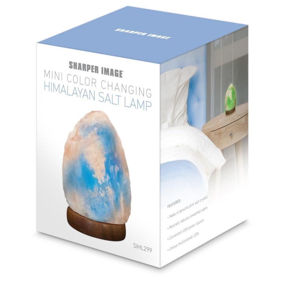 Sharper Image Himalayan Salt Lamp With Led Changing Lights Amazon