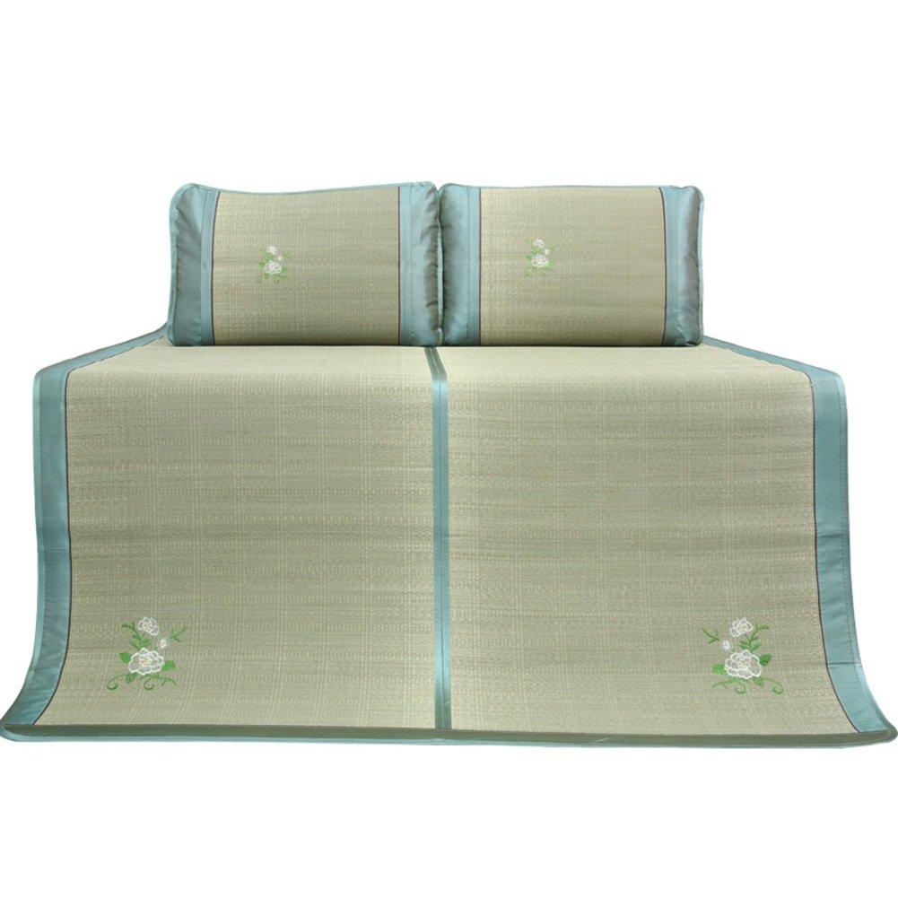 WENZHE Matratzen Sommer-Schlafmatten Strohmatte Teppiche Zusammenklappbar Verdicken Schüler Schlafsaal Zuhause Zuhause Zuhause Schlafzimmer, Gras, 6 Größen (Farbe   A, größe   1.5×1.95m) B07CVHQ7J1 Luftmatratzen Schnelle Lieferung d27757