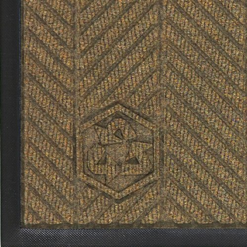 M+A Matting 2240 Waterhog Classic ECO Elite PET Polyester Entrance Indoor Floor Mat, SBR Rubber Backing, 4' Length x 3' Width, 3/8'' Thick, Khaki by M+A Matting (Image #1)