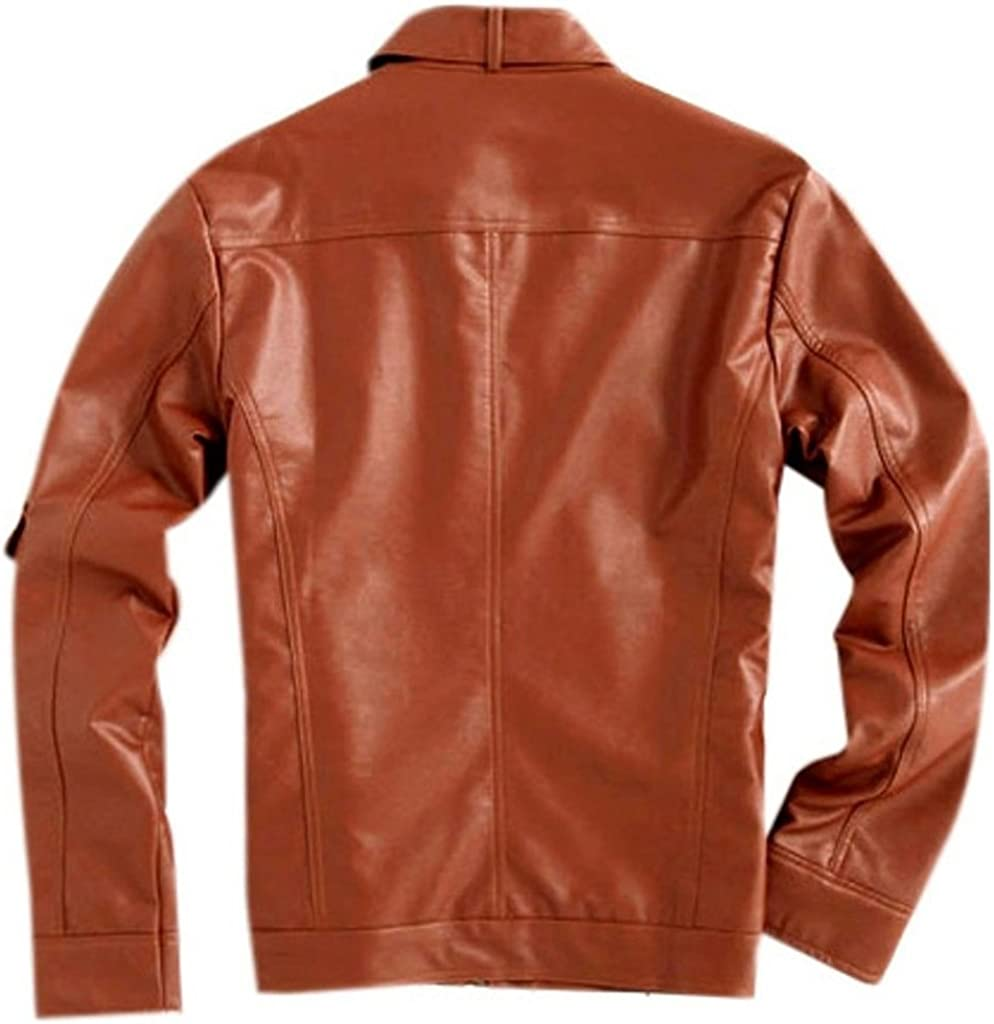 Mens Napa Real Leather Jacket Winter Fashion Coat A806