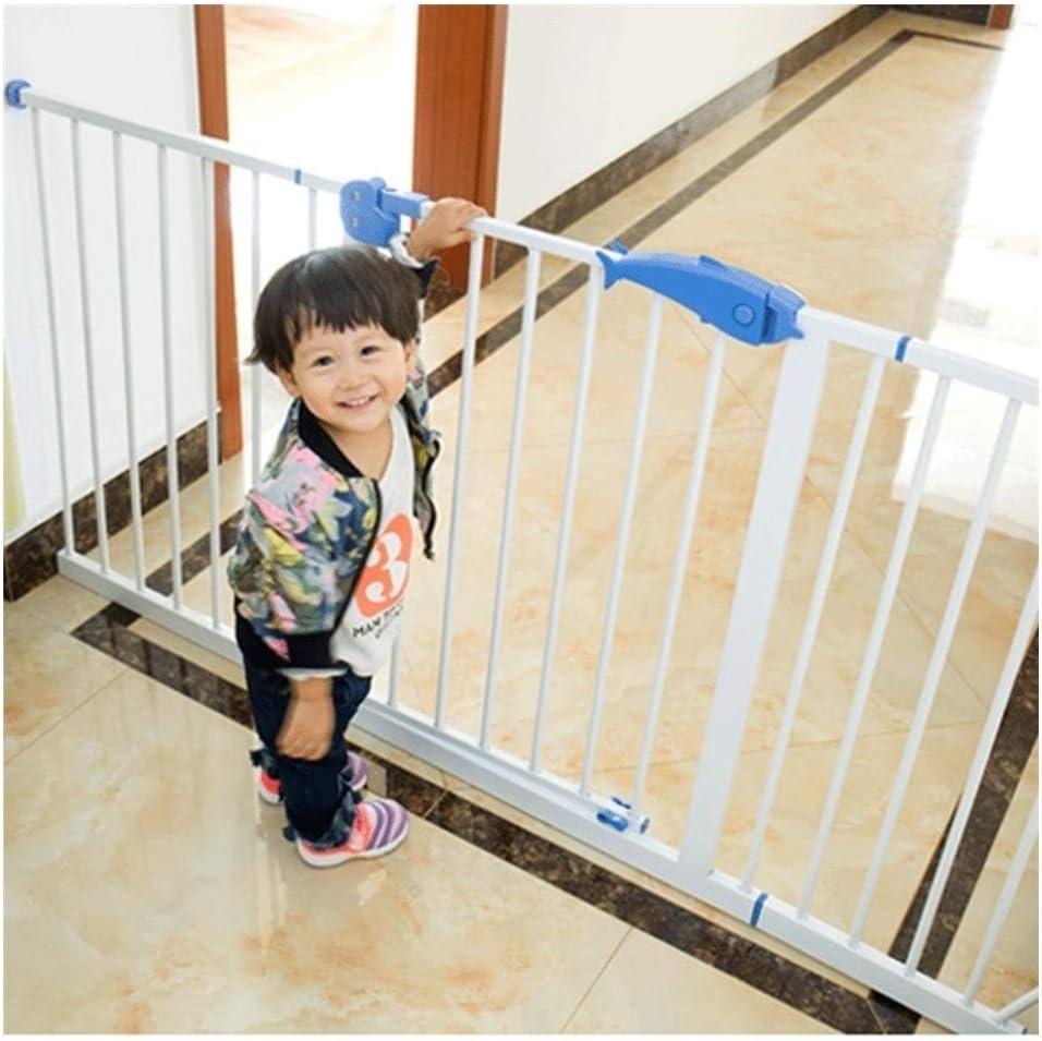 Barrera de Seguridad con Bloqueo en Puerta para niños Superior O Inferior De Las Escaleras De Cierre Automático De Metal Extensible Chimenea Valla Adecuados For La Cocina Escaleras: Amazon.es: Hogar