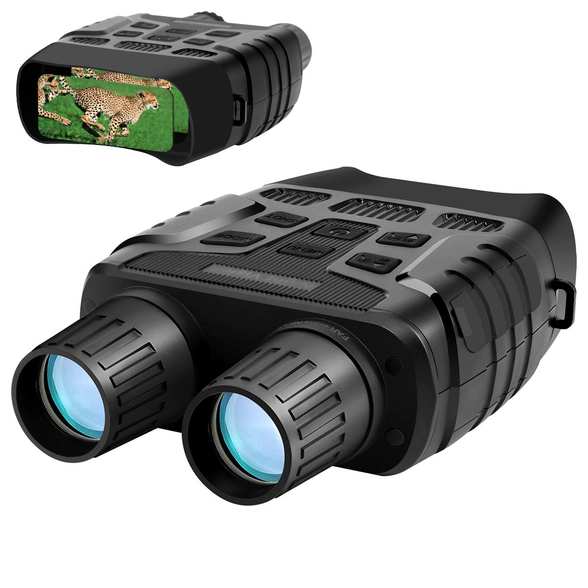 Aurho Night Vision Binoculars, 720P HD Digital Infrared Hunting Binocular 300 Yards IR Camera with Video Recorder with 2.31'' TFT LCD Photos Videos Playback for Wildlife by Aurho
