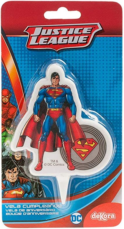 DEKORA Superman Candle Cake Topper