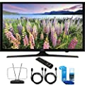 """Samsung UN43J5200 43"""" Full HD 1080p Smart LED HDTV Cord Bundle Includes, Durable HDTV and FM Antenna + 2x 6ft High Speed HDMI Cable + Screen Cleaner (Large Bottle) for LED TVs"""