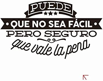 Cita famosa española Frase inspiradora Vinilos decorativos vinilos decorativos Calcomanías de pared Decoración para el hogar para la decoración de la sala de estar50cmx29cm: Amazon.es: Bricolaje y herramientas