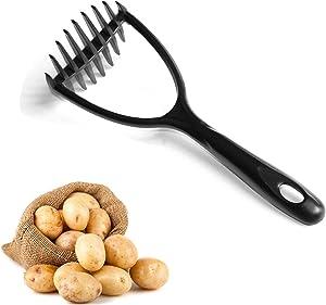 Potato Masher Nylon, KSENDALO Nonstick Potato Masher, European LFGB Standard Nylon Made 1-Piece Design Seamless Food Masher Mixer Tool