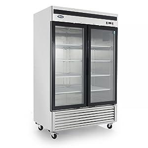 Atosa MCF8703 Bottom Mount (2) Two Glass Door Freezer