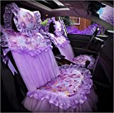 HOMEE@ Ladies Car Lace Cushion Summer Dream Lace Cushion Cover All-Inclusive Four Seasons General Car Mats , Purple,purple