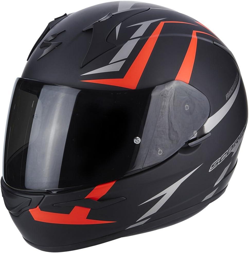 M SCORPION Casque moto EXO 390 HAWK Noir mat Rouge Noir//Rouge