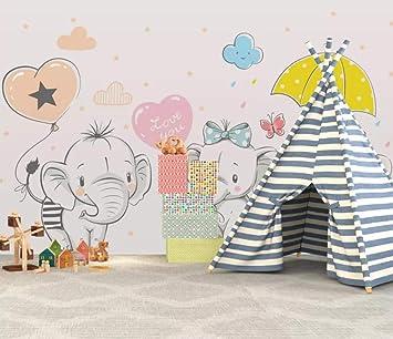 Personalizado moda moderna estéreo papel tapiz 3d elefante ...