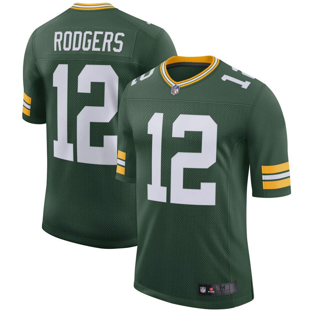 Mitchell & Ness Men's Aaron Rodgers #12 Green Bay Packers Limited Player Green Jersey by Mitchell & Ness