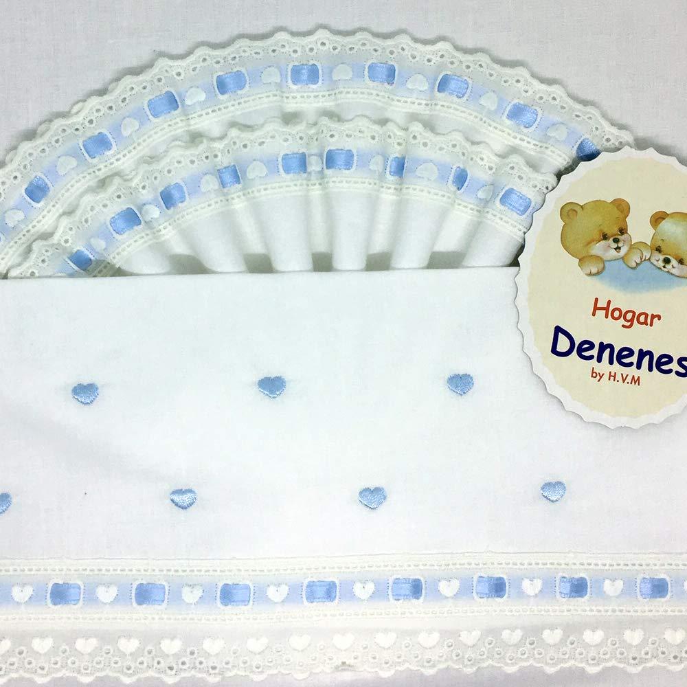 Juego de sábanas cuco/coche CORAZONES (Azul): Amazon.es: Bebé