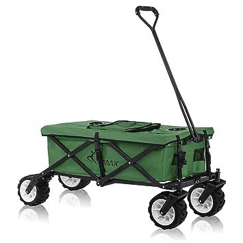 SAMAX: carrito de transporte de mano, todoterreno, color verde; diferentes versiones: Amazon.es: Bricolaje y herramientas