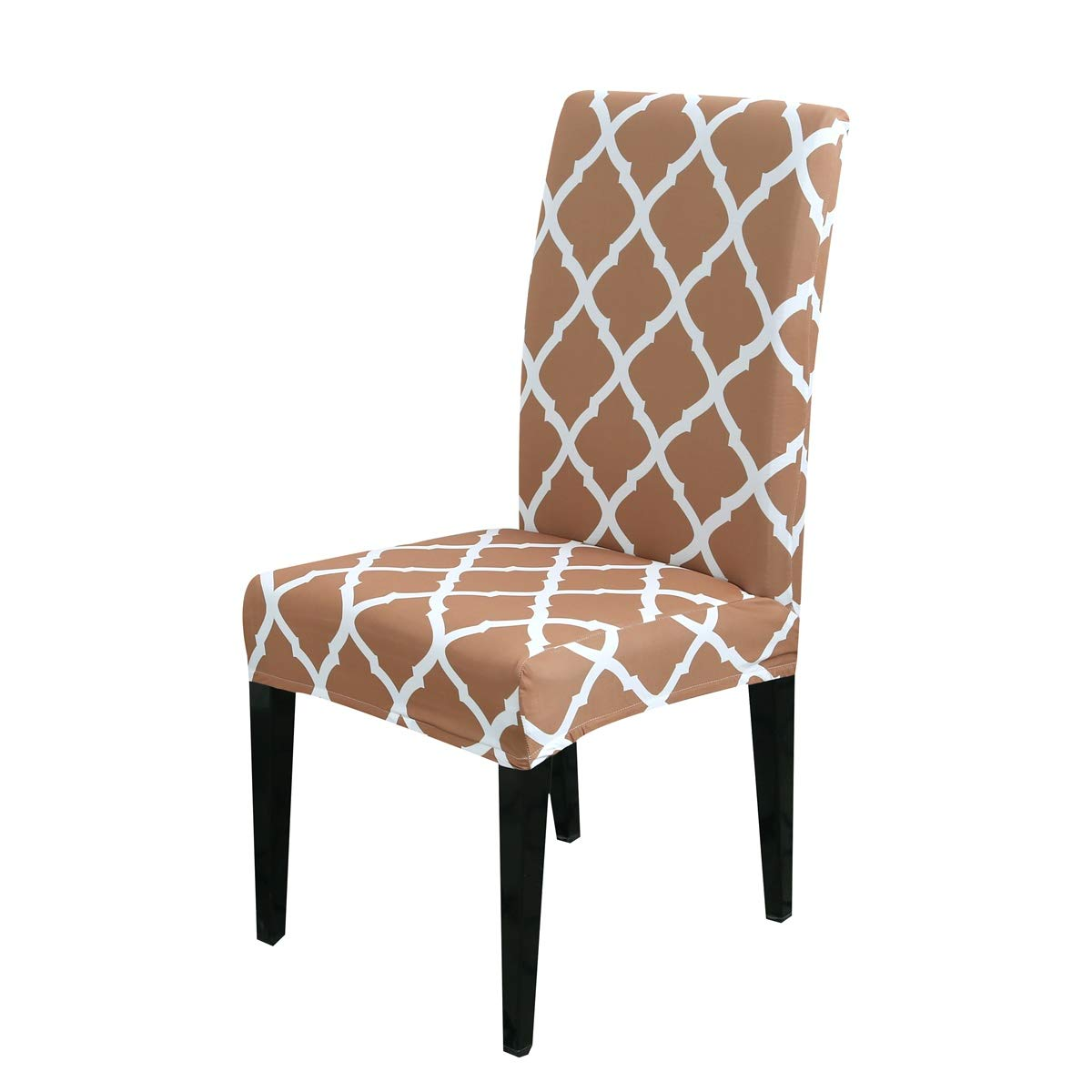 LiveGo Housse de Chaise 1//4//6 Paquet Stretch Couvre-chaises pour Salle /à Manger d/écoration de f/ête Bleu, 1 Pcs