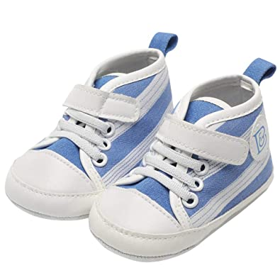 e67b582e1d30 Saingace Toddler Kids Baby Boys Girls Canvas Anti-Slip Lace-up Sneaker  Stylish Striped
