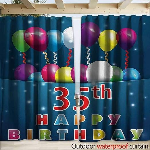 warmfamily - Cortina de 35 cumpleaños para el hogar o el ...