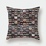 Custom Satin Pillowcase Protector Huge Collection Of Audio Cassettes Retro Musical Background 422265142 Pillow Case Covers Decorative