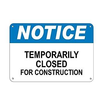 Amazon.com: Aviso temporalmente cerrado para construcción ...