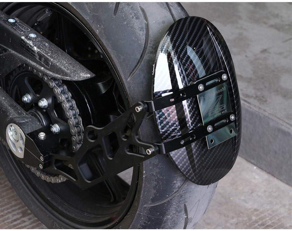 Z1000 Motorcycle Rear Hugger Fender Splash Guard Aluminum Alloy Rear Wheel Tire Splash Mud Dust Guard Fender Shield with mounting Accessories for Kawasaki Z1000 2010-2016