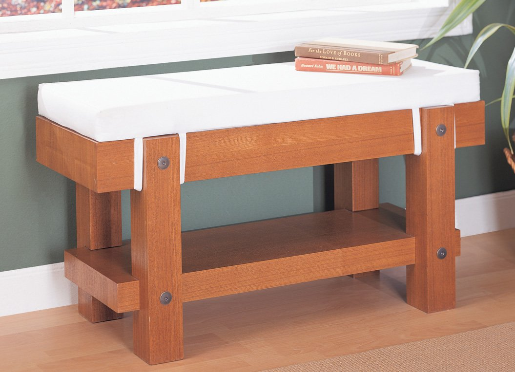 Organize It All Robust Bench with Cushion