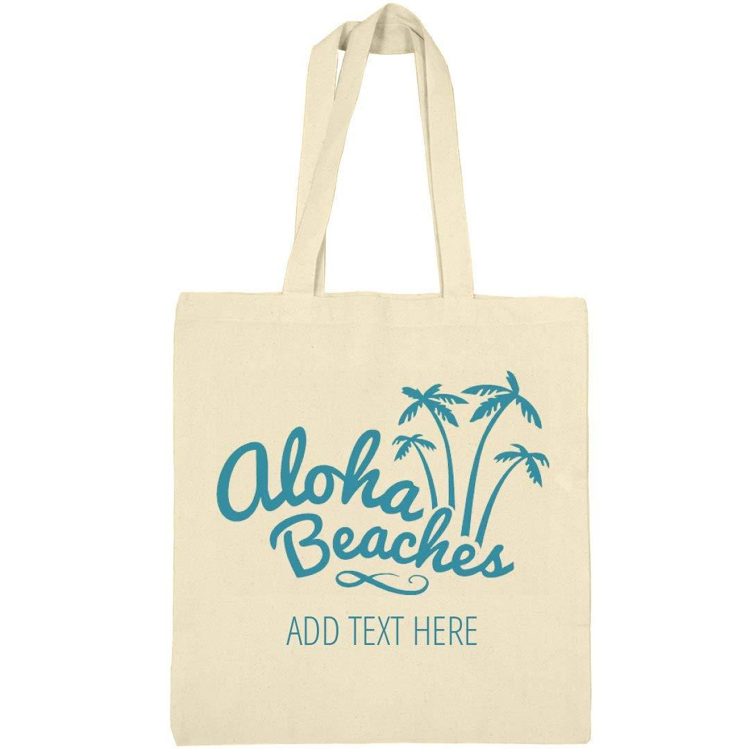 Custom Aloha Beaches Palm Trees: Canvas Bargain Tote Bag