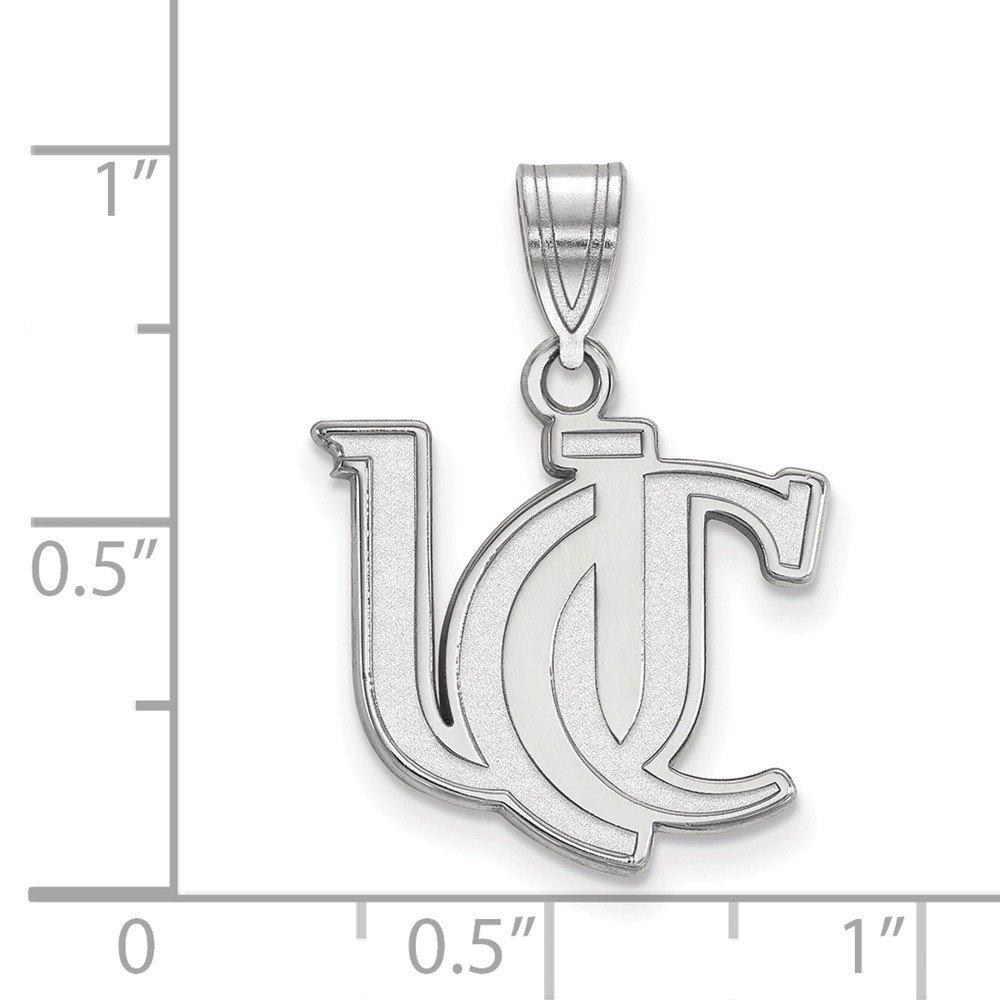 17mm x 24mm Jewel Tie 925 Sterling Silver University of Cincinnati Medium Pendant