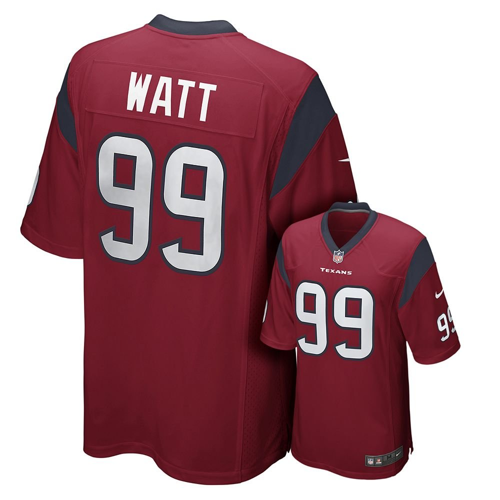 de0b454fc95 Amazon.com   Nike J.J. Watt Houston Texans Game Jersey - Red  Misc.     Sports Fan Apparel   Sports   Outdoors
