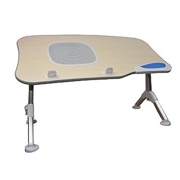 St.Oswalds Mesa Ordenador Portátil Cama Escritorio Plegable Ajustable Altura con Ventilador para 17 Pulgadas Laptop: Amazon.es: Electrónica