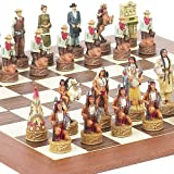 American West Chessmen & Stuyvesant Street Chess Board from Spain