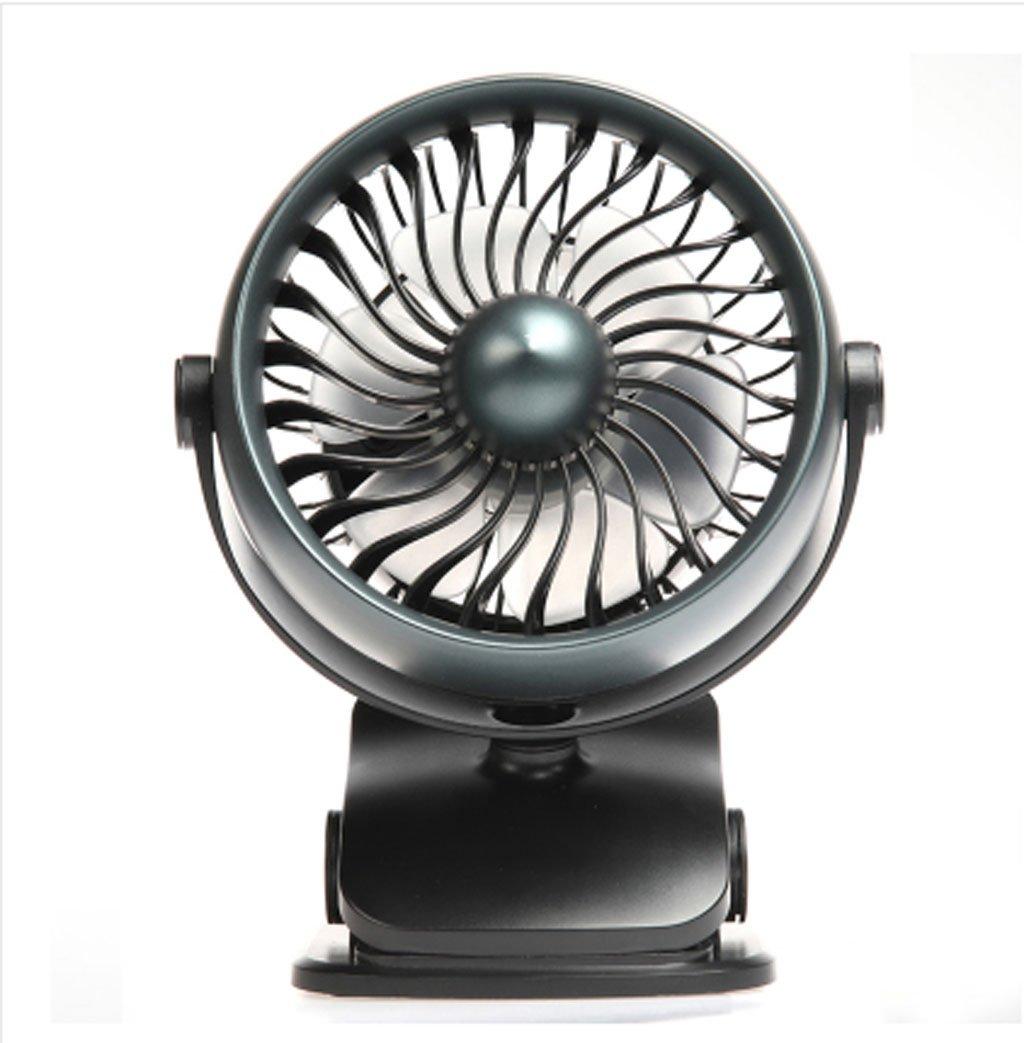 Unbekannt Mini-Fan 4 Zoll Ultra Leise Ladewagen Baby Schlafsaal Mini-Fan (Tiefes Blau, senden Aromatherapie)