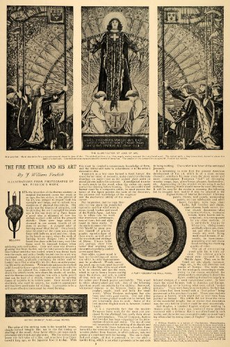 1896-article-fire-etcher-art-william-fosdick-joan-arc-religion-angels-gothic-original-print-article