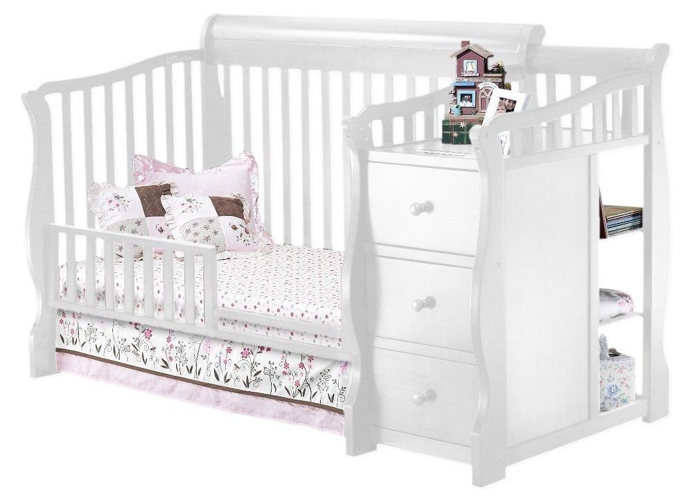 White Sorelle Tuscany Mini Siderail Toddler Bed Conversion Kit
