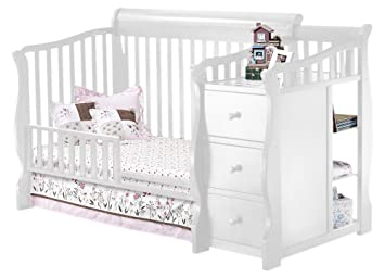 Sorelle Tuscany Mini Siderail Toddler Bed Conversion Kit White
