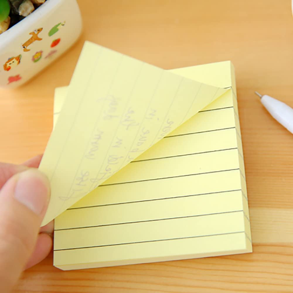 4 Candy Colors 80 Sheets//Pad Sticky Notes 8 Pads Self-Stick Notes Memo Notes 3x 3 Yellow, Blue, Pink, Brown Lined