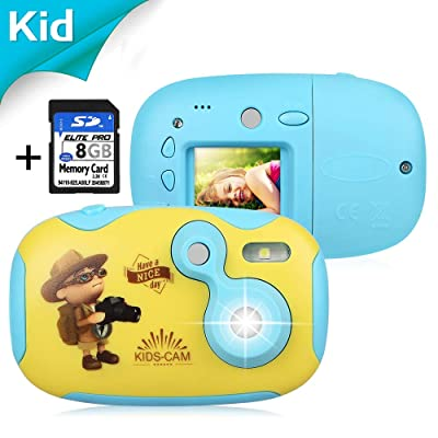 "AGM Kids Camera for Girls & Boys, 1.4"" Mini Children Video Recorder Toddler Digital Camera with 8GB Memory Card, DIY Creative Birthday Children's Day for Kids: Toys & Games"