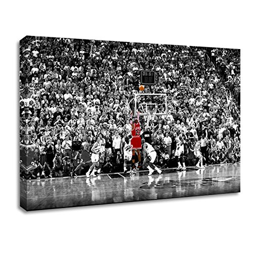 - BPAGO Michael Jordan Sports Poster Print Poster Old Photo Canvas Paintings Ready to Hang (16