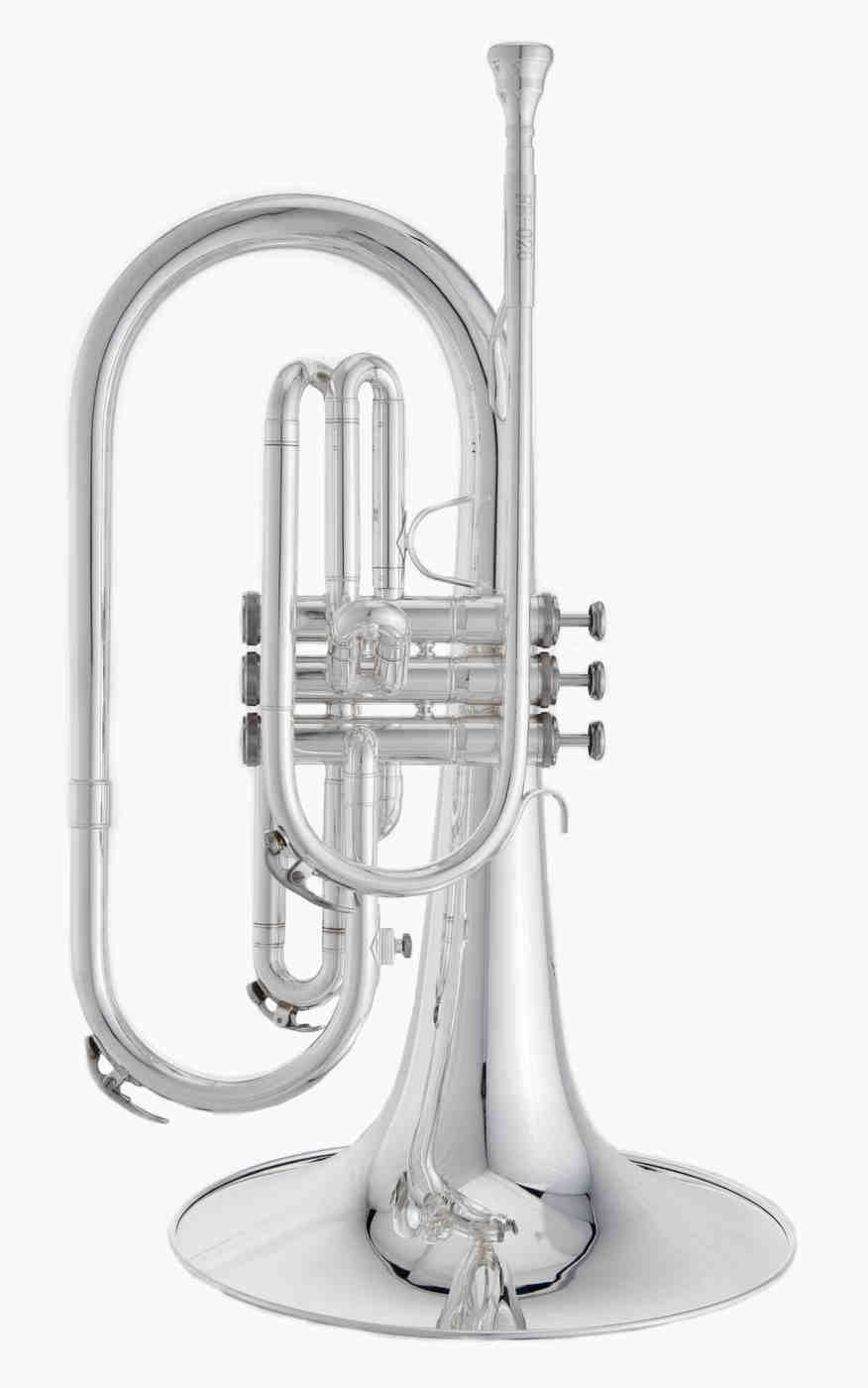 RS Berkeley MAR676 Silver Plated Marching Mellophone by RS Berkeley