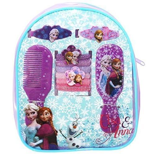 Mini sac à dos avec 10 accessoires de coiffure enfant fille La reine des neiges Violet