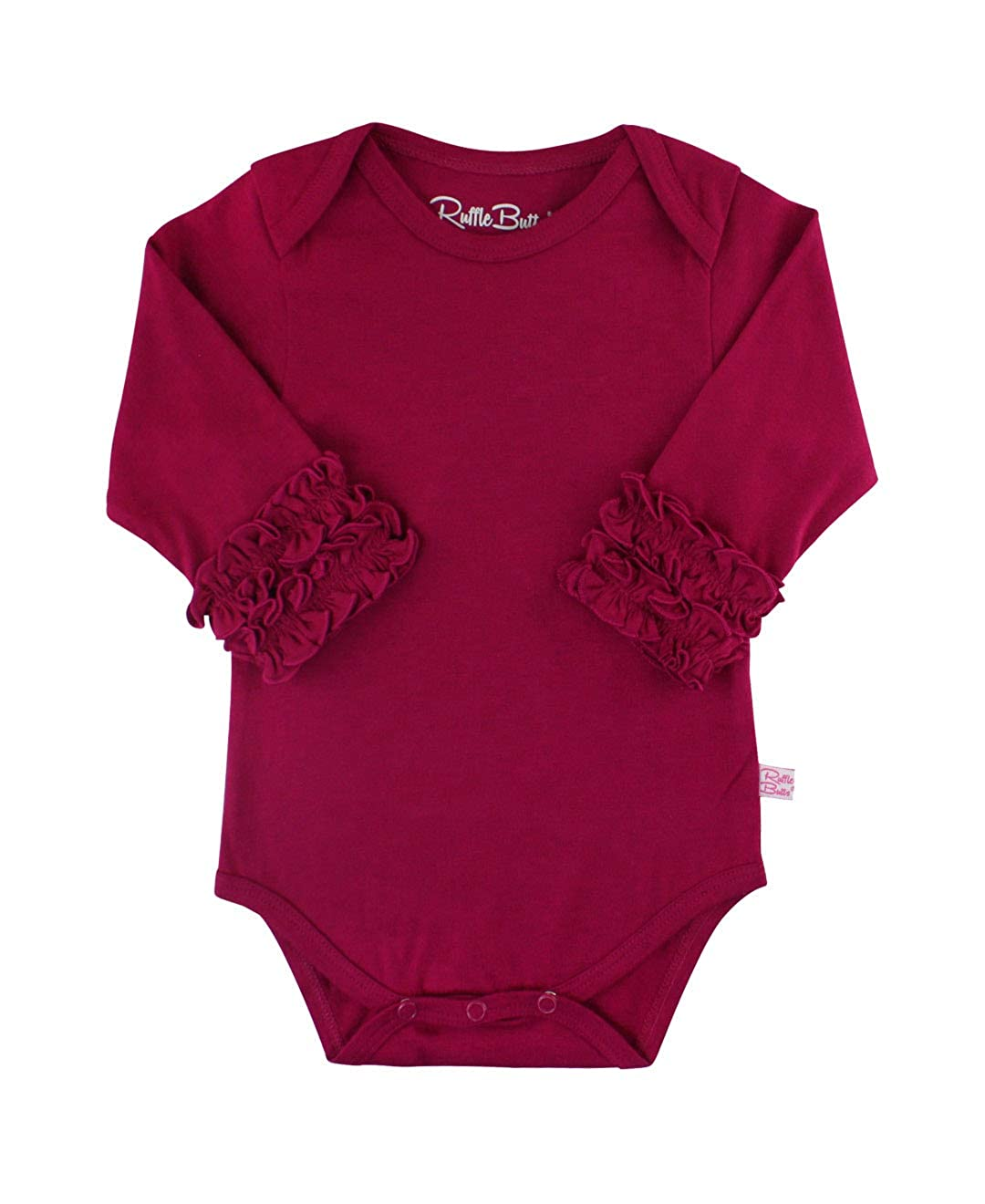 RuffleButts Baby/Toddler Girls Long Sleeve One Piece Under Bodysuit ONMYYXX-LONG-SC-BABY