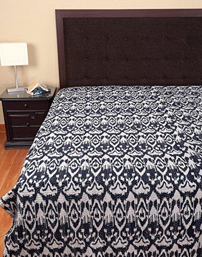 Ropa de cama de lujo colcha ikat imprimir kantha cama - Colchas de lujo ...