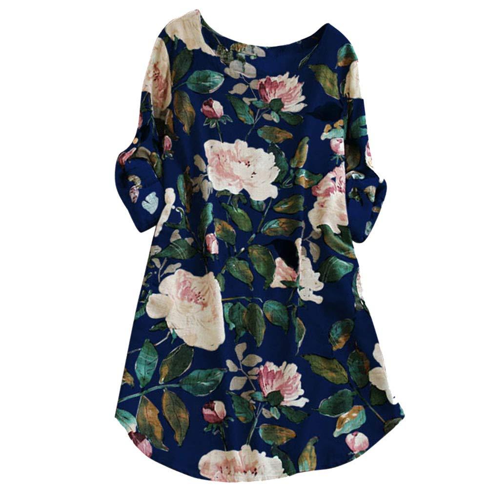 iLUGU Boat Collar Long Sleeve Mini Dress For Women Leaves Print Long Blouse Mens Dress Shirts