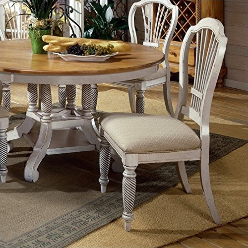Hillsdale Wilshire Fabric Dining Chair in Antique White (Set of 2) (Hillsdale Fabric Chair)